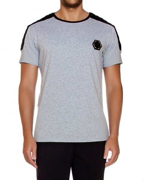 футболка из хлопкового трикотажа с логотипом бренда артикул HM347999 марки PHILIPP PLEIN купить за 24600 руб.