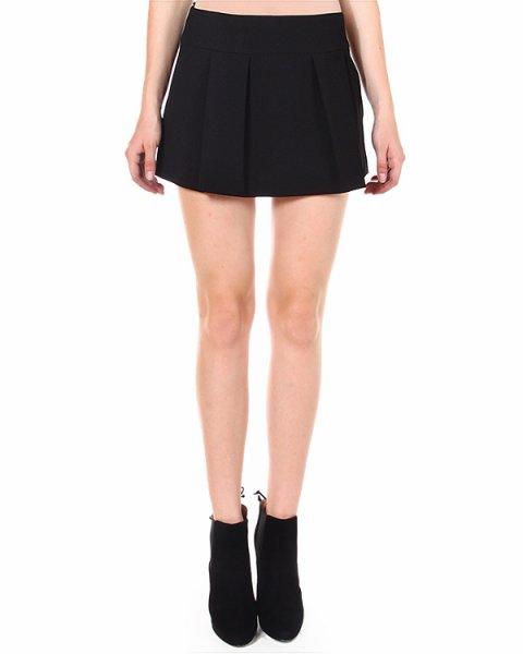 юбка mini из плотной комбинированной ткани артикул HR3GN165 марки Valentino Red купить за 7700 руб.