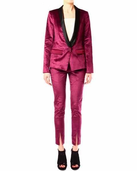 костюм выполненный в винтажном стиле с имитацией бархата артикул HSVV2076 марки TIBI купить за 26400 руб.