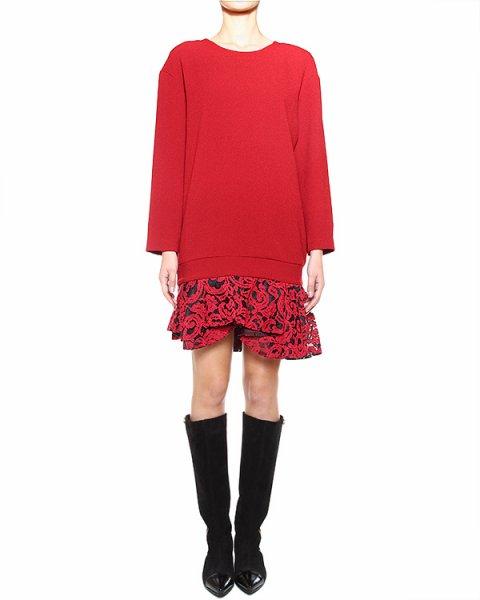 платье прямого кроя, с кружевными оборками по низу артикул I14JAB20PZZ29 марки SI-JAY купить за 15000 руб.