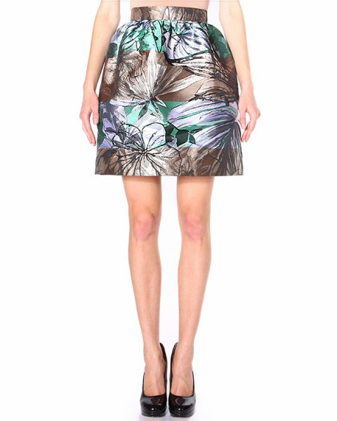 юбка с посадкой на талии, из плотного атласного материала артикул I14MSK05 марки Marcobologna купить за 14700 руб.
