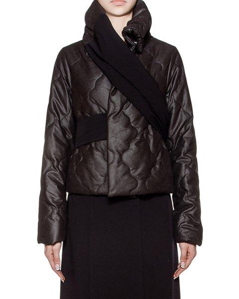 куртка из плотной стеганой ткани с металлическим блеском, дополнена оригинальным трикотажным поясом артикул I16I50178 марки MALLONI купить за 19300 руб.
