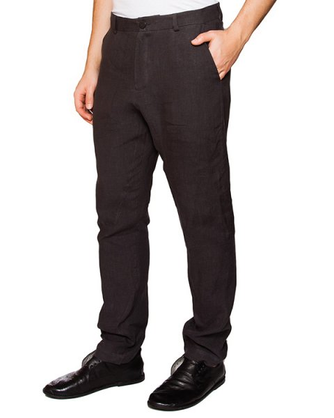 брюки прямого кроя из плотного льна артикул IB1852 марки Isabel Benenato купить за 38500 руб.