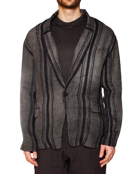 пиджак свободного кроя из натуральных волокон - пеньки и льна артикул IB1868 марки Isabel Benenato купить за 69300 руб.