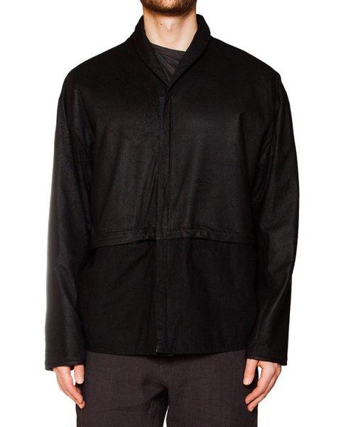 куртка из натуральной кожи, дополнена низом из плотного льна артикул IB1927 марки Isabel Benenato купить за 95700 руб.