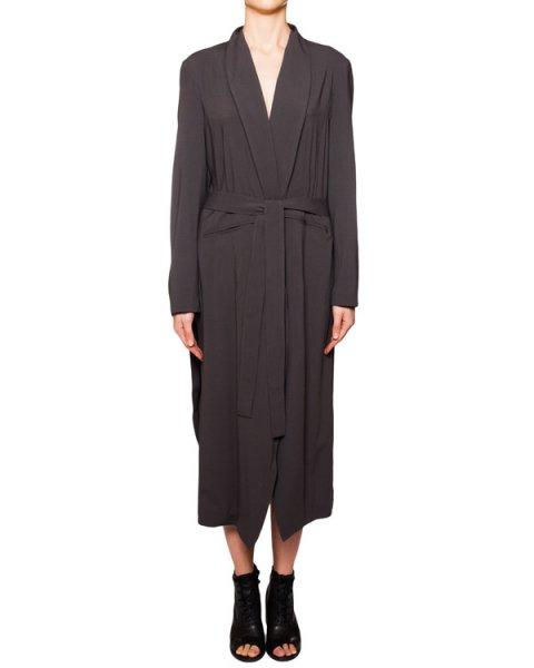 плащ в халатном стиле из шерсти и вискозы артикул IB3100 марки Isabel Benenato купить за 62300 руб.