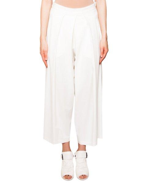 брюки широкие из шерсти и вискозы декорированы складками и драпировкой артикул IB3104 марки Isabel Benenato купить за 32100 руб.
