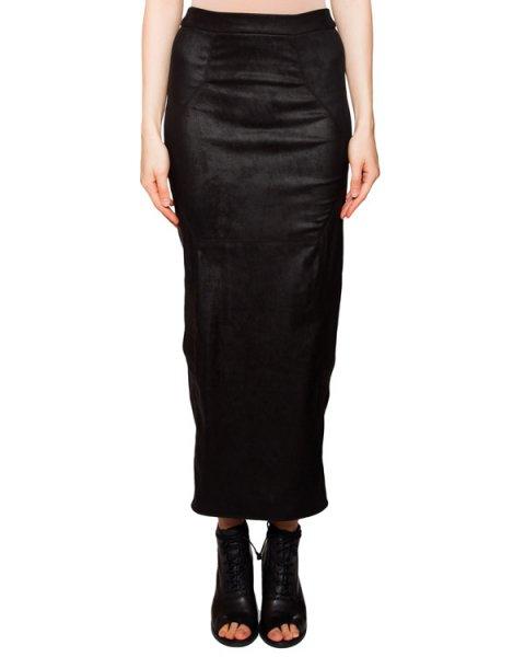 юбка обтягивающая юбка с разрезом, выполнена из эластичной потертой кожи артикул IB3136 марки Isabel Benenato купить за 66300 руб.