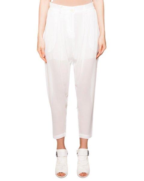 брюки свободного кроя из полупрозрачного шелка артикул IB3234 марки Isabel Benenato купить за 41600 руб.
