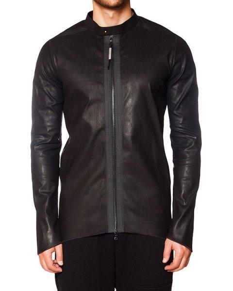 рубашка асимметричного кроя из мягкой гладкой кожи артикул INSENSIBLE марки Isaac Sellam купить за 84500 руб.