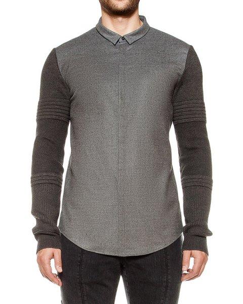 рубашка из шерсти, рукава фактурной вязки артикул JC6X64P023 марки Juun.J купить за 37800 руб.