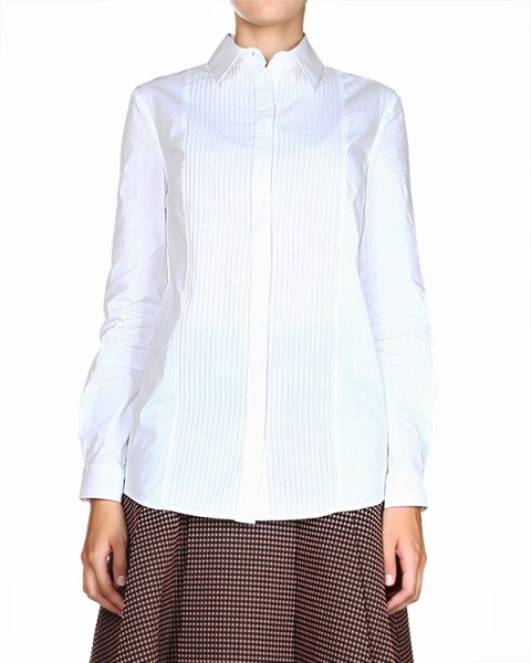 рубашка удлиненного кроя, с отложным воротником артикул JDD321C марки Jil Sander купить за 11700 руб.