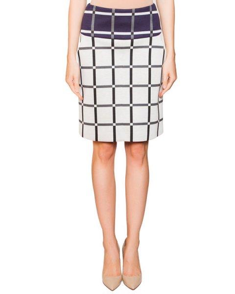 юбка из мягкого трикотажа с рисунком в клетку артикул JDF113C марки Jil Sander купить за 12600 руб.