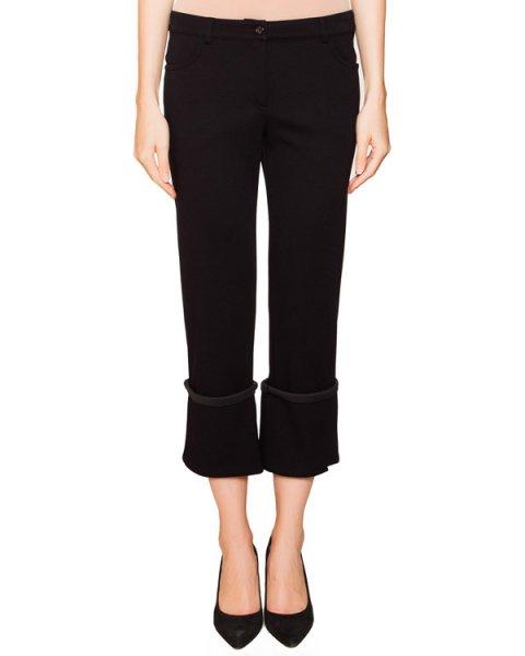 брюки прямого кроя из мягкого трикотажа с широкими отворотами артикул JDF210A марки Jil Sander купить за 10500 руб.