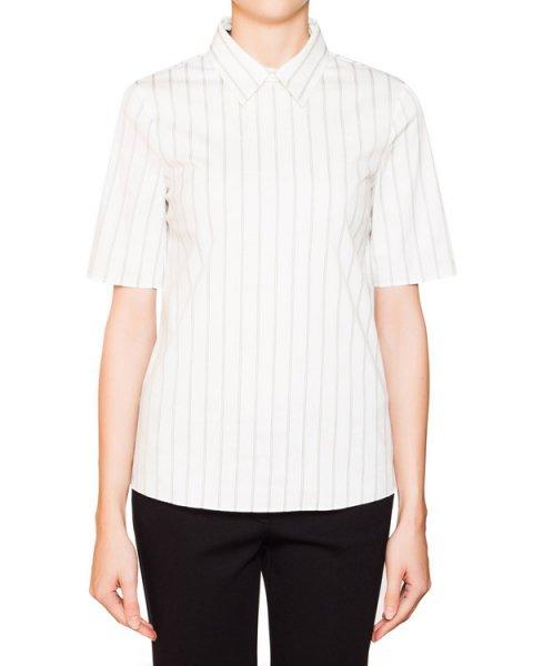 блуза из хлопка в тонкую полоску артикул JDF324A марки Jil Sander купить за 9900 руб.