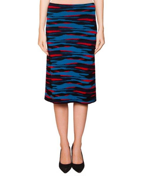 юбка из мягкой шерсти с абстрактным рисунком артикул JDF653J марки Jil Sander купить за 12400 руб.