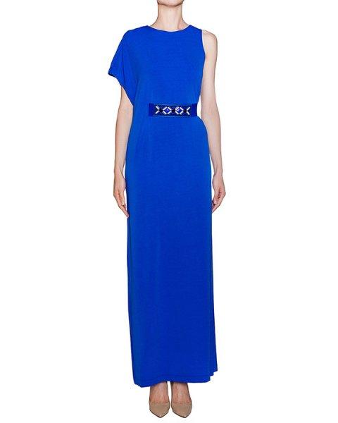 платье в пол асимметричного кроя с поясом артикул JEJEY720464Z марки P.A.R.O.S.H. купить за 15400 руб.