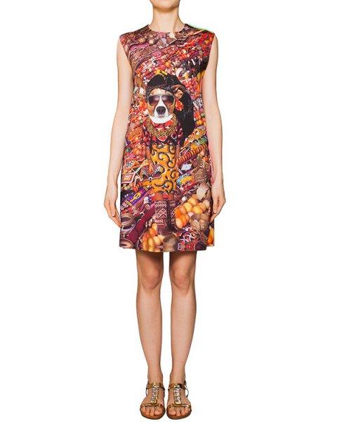 платье из тонкой эластичной ткани с ярким абстрактным рисунком артикул JEWELRY марки The Artistylist купить за 9800 руб.