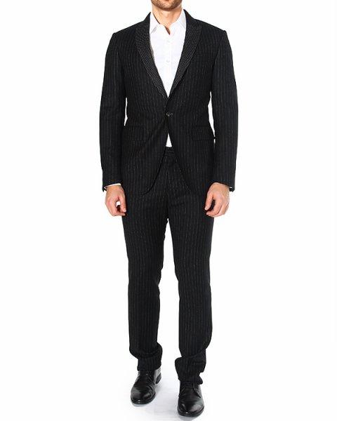 костюм классического приталенного силуэта с принтом-полоской артикул JG130544C-JR150 марки Mauro Grifoni купить за 39100 руб.