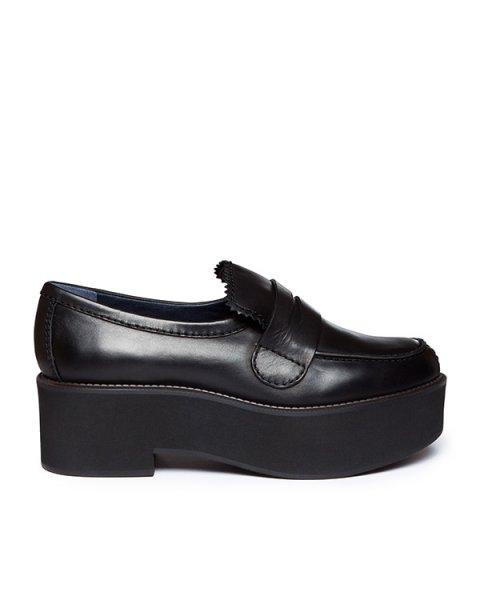 туфли из натуральной гладкой кожи на толстой платформе артикул JN25013 марки Jil Sander купить за 13000 руб.