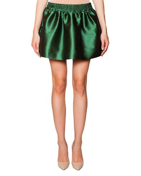 юбка мини из шелкового твила с резинкой на талии артикул JR0RA0L0 марки Valentino Red купить за 7100 руб.