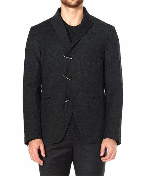 пиджак с крупными фигурными пуговицами в стиле hard rock артикул JVSO1128 марки JOHN VARVATOS купить за 41700 руб.