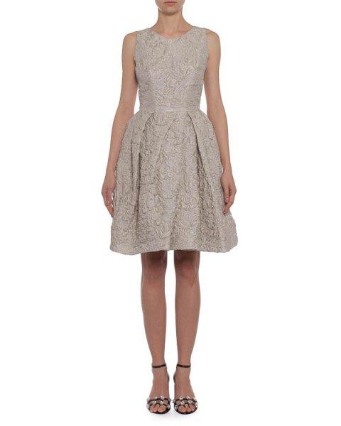 платье из плотного фактурного шелка с выбитым рисунком артикул K201 марки Dice Kayek купить за 56700 руб.