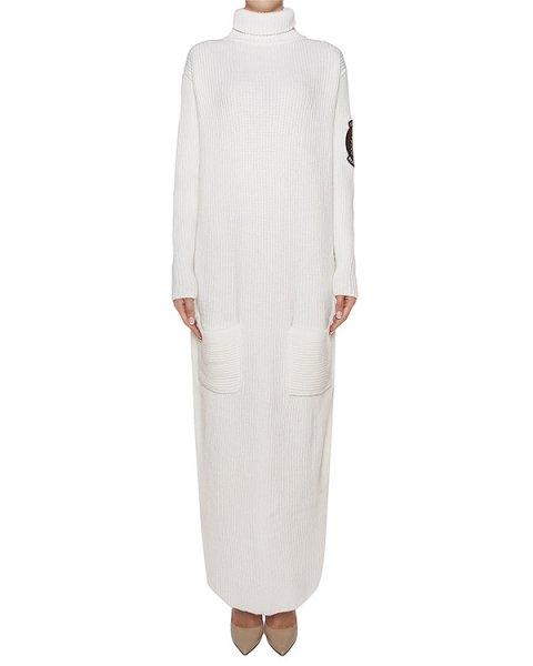 платье шерстяное крупной вязки, дополнено шевроном артикул KD0581702 марки Graviteight купить за 31200 руб.