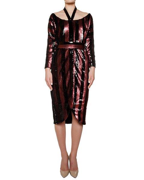 платье полностью расшитое цветными пайтеками артикул KFW1619 марки Kalmanovich купить за 72000 руб.