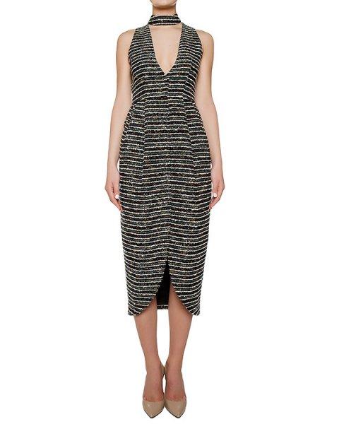 платье с высоким разрезом; из буклированной ткани артикул KFW1640 марки Kalmanovich купить за 43200 руб.