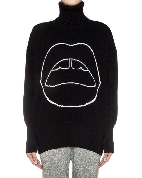 свитер из шерсти с рисунком артикул KN1952A марки Markus Lupfer купить за 21600 руб.