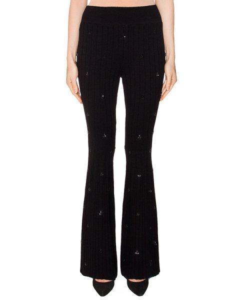 брюки расклешенного кроя из трикотажа, декорированы кристаллами артикул KP0370503 марки Graviteight купить за 45000 руб.