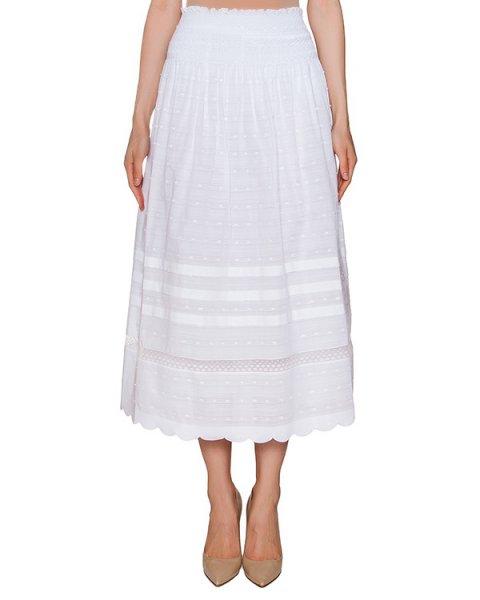 юбка из хлопка с вышившкой артикул KR0RA135 марки Valentino Red купить за 16300 руб.
