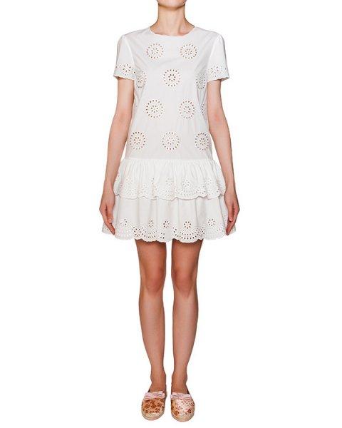 платье из хлопка с узорами артикул KR0VA02H марки Valentino Red купить за 17700 руб.