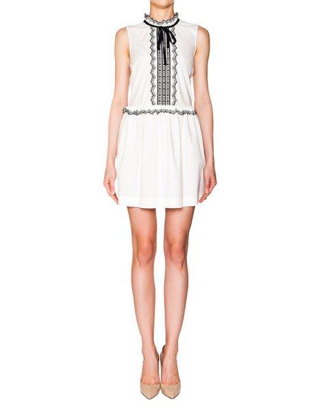 платье из тонкого хлопка с контрастной вышивкой артикул KR0VA02R2AV марки Valentino Red купить за 16200 руб.
