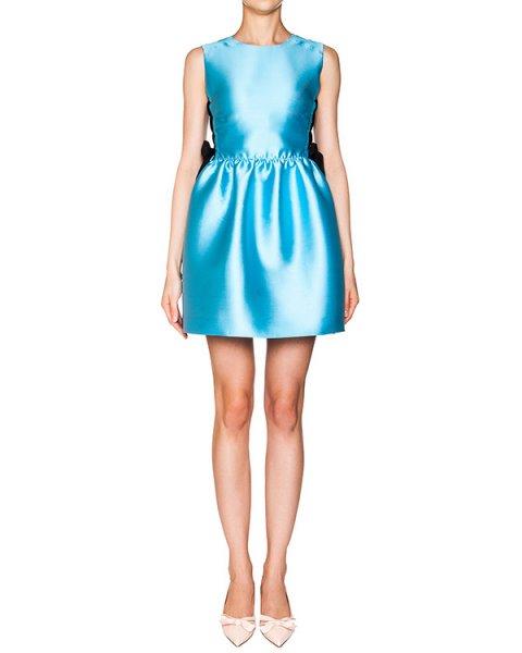 платье из плотного атласа; по бокам шнуровка в корсетном стиле артикул KR0VA2C51WF марки Valentino Red купить за 17200 руб.