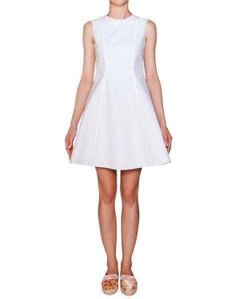 платье приталенное из плотного хлопка артикул KR0VA2G5 марки Valentino Red купить за 29400 руб.