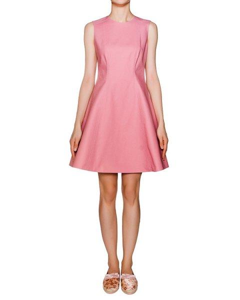 платье приталенное из плотного хлопка артикул KR0VA2G5 марки Valentino Red купить за 11800 руб.