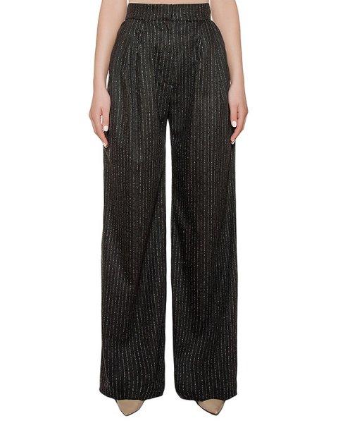 брюки широкие из шерстяной ткани в тонкую полоску артикул KSS1628 марки Kalmanovich купить за 30000 руб.