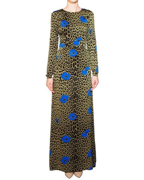 платье в пол из мягкого шелка с анималистичным и цветочным принтом артикул KUNAKUNO марки Essentiel купить за 14000 руб.
