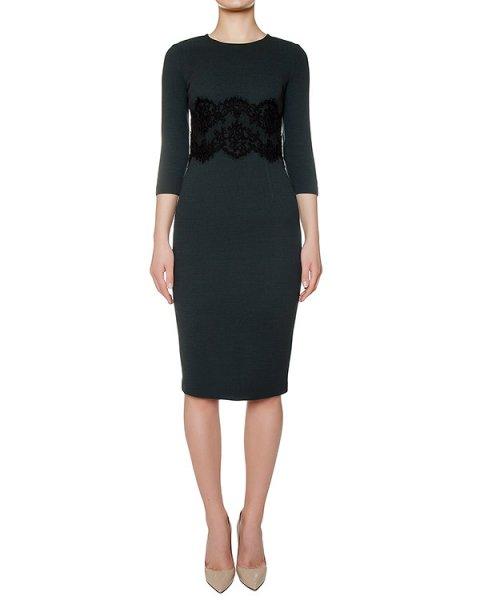 платье из шерстяного трикотажа, украшено кружевной вставкой артикул LAKIXY700011Z марки P.A.R.O.S.H. купить за 40700 руб.