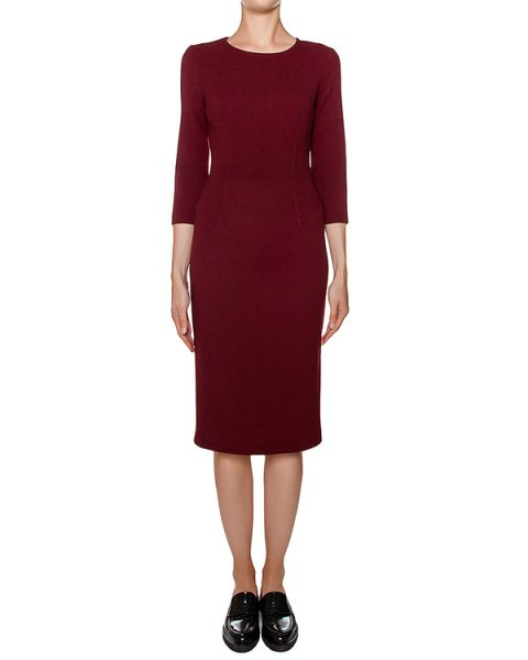 платье футляр приталенного кроя из мягкой шерсти артикул LAKIXY700011 марки P.A.R.O.S.H. купить за 33600 руб.