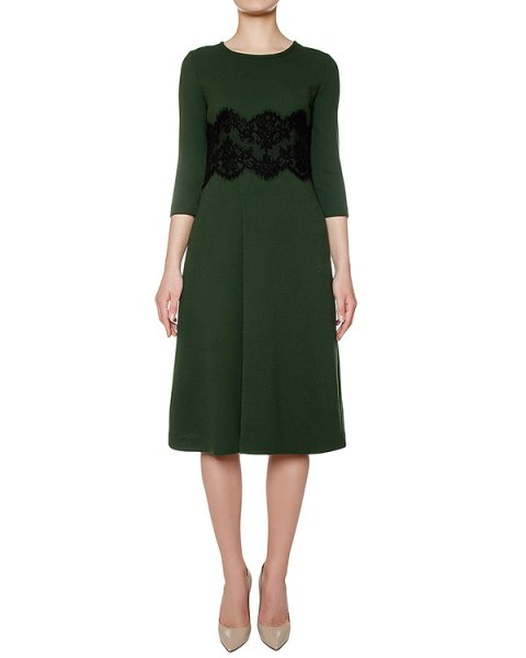 платье из шерстяного трикотажа, украшено кружевной вставкой артикул LAKIXY721060Z марки P.A.R.O.S.H. купить за 46600 руб.