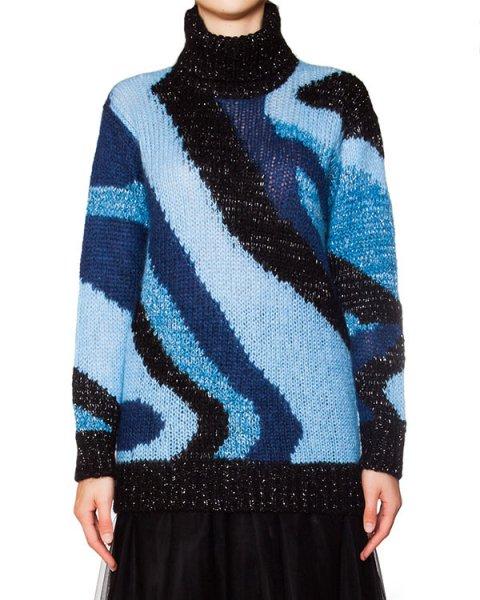 свитер удлиненного кроя из мохера и шерсти с узором артикул LALUX512010 марки P.A.R.O.S.H. купить за 9400 руб.