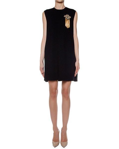 платье из мягкого трикотажа, украшено нашивкой артикул LE0511R12 марки L'Edition купить за 26300 руб.
