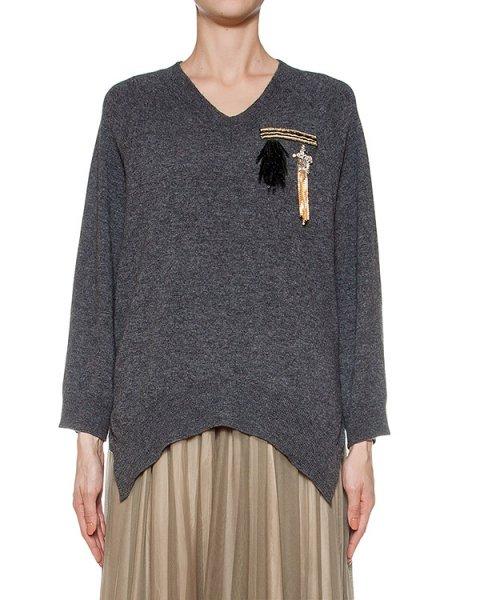 пуловер из шерсти и кашемира, украшен нашивками артикул LE0514R13 марки L'Edition купить за 26700 руб.