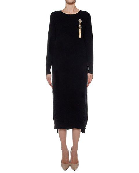 платье из шерсти и кашемира, украшено нашивкой артикул LE0517R25 марки L'Edition купить за 31900 руб.
