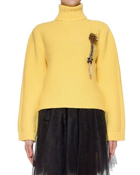 свитер из мериносовой шерсти, дополнен нашивкой артикул LE0529R19 марки L'Edition купить за 29200 руб.