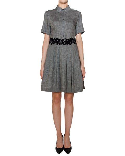 платье приталенного кроя из мягкой вирджинской шерсти, украшено ажурной отделкой  артикул LEENA721009Z марки P.A.R.O.S.H. купить за 32800 руб.