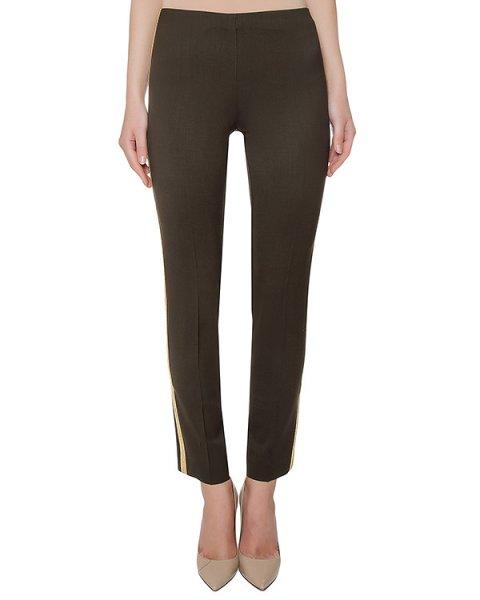 брюки из плотной шерстяной ткани с золотистыми лампасами артикул LILYXY220003BO марки P.A.R.O.S.H. купить за 12000 руб.